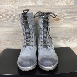 Fly London Shoes - Fly London Lace Up Combat Boots 37
